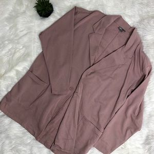 Oversized blush pink duster coat